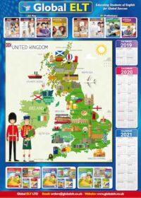 Карта UK Map Poster