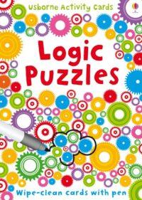 Карточки пиши-стирай,Карточки с маркером Logic Puzzles Cards