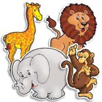 Карточки Zoo Animals Accent Punch-Outs