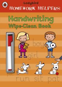 Книга пиши-стирай,Книга с маркером Ladybird Homework Helpers: Handwriting Wipe-Clean Book