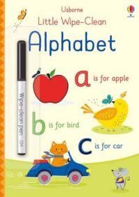 Книга пиши-стирай,Книга с маркером Little Wipe-Clean Alphabet