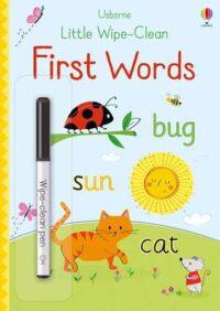 Книга пиши-стирай,Книга с маркером Little Wipe-Clean First Words