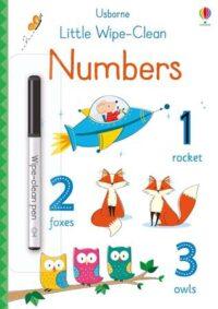 Книга пиши-стирай,Книга с маркером Little Wipe-Clean Numbers