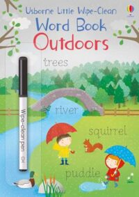 Книга пиши-стирай,Книга с маркером Little Wipe-Clean Word Book: Outdoors