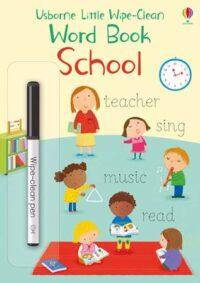 Книга пиши-стирай,Книга с маркером Little Wipe-Clean Word Book: School