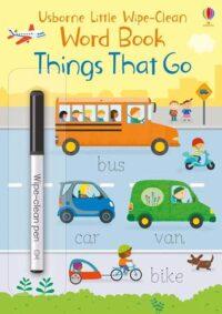 Книга пиши-стирай,Книга с маркером Little Wipe-Clean Word Book: Things That Go