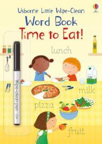 Книга пиши-стирай,Книга с маркером Little Wipe-Clean Word Book: Time to Eat!