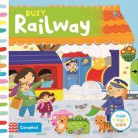 Книга с движущимися элементами Busy Railway