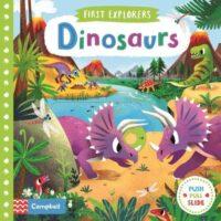 Книга с движущимися элементами First Explorers: Dinosaurs