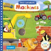 Книга с движущимися элементами First Explorers: Machines