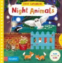 Книга с движущимися элементами First Explorers: Night Animals