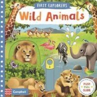 Книга с движущимися элементами First Explorers: Wild Animals