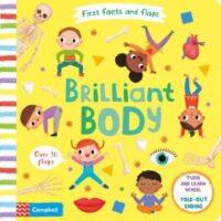 Книга с движущимися элементами,Книга с окошками First Facts and Flaps: Brilliant Body