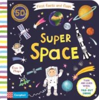 Книга с движущимися элементами,Книга с окошками First Facts and Flaps: Super Space