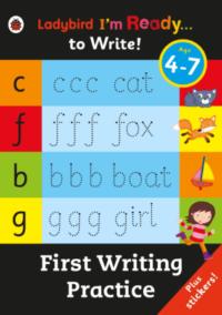 Книга с наклейками Ladybird I'm Ready... to Write! First Writing Practice
