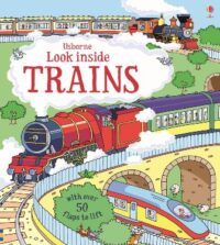 Книга с окошками Look inside Trains