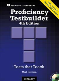Книга с тестами Proficiency Testbuilder 4th Edition with key and Audio CDs