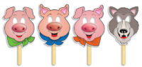 Маски Three Little Pigs Fairy Tale Masks with Easy-to-Read Play!