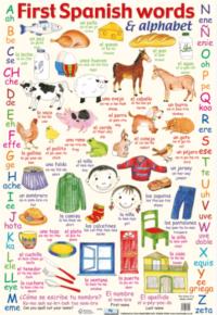 Плакат First Spanish Words and Alphabet