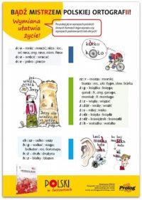 Плакат Plakat Bądź mistrzem polskiej ortografii. Wymiana ułatwia życie